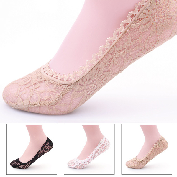 Women Cotton Lace Antiskid Invisible Shoe Liner Vogue Cut Socks Foot Cover | EBay